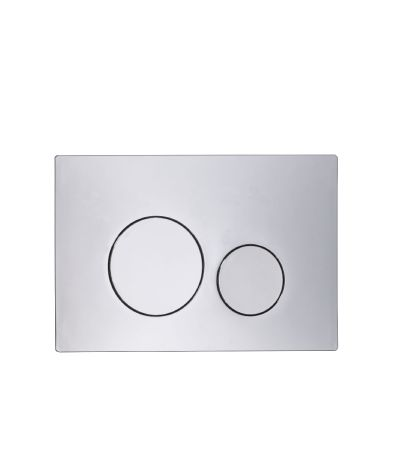 Circles Flush Plate - Chrome