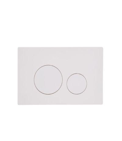 Circles Flush Plate - white