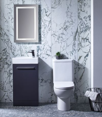 Kobe 450mm Freestanding Unit with Basin - Storm Grey