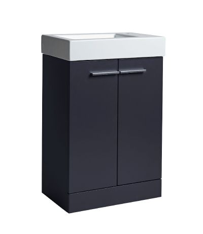 Kobe 560mm  Freestanding Unit with Basin - Storm Grey