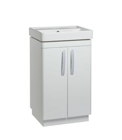 Compass 500mm Freestanding Unit - Gloss White