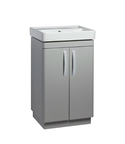 Compass 500mm Freestanding Unit - Gloss Light Grey