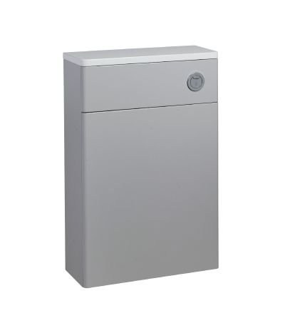 Compass Back to Wall WC Unit and Worktop - Gloss Light Grey