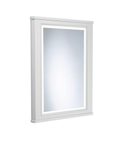 Lansdown 600mm Illuminated Mirror - Linen White