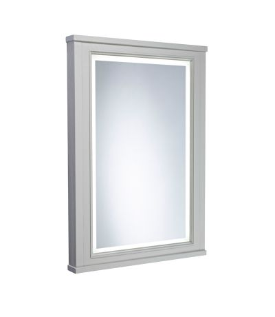 Lansdown 600mm Illuminated Mirror - Pebble Grey