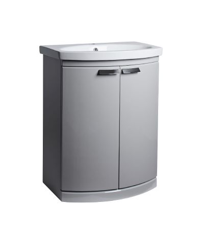 Tempo 650 Freestanding Unit Gloss Light Grey