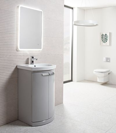 Tempo 500mm Freestanding Unit Gloss Light Grey