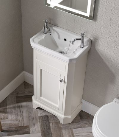 Vitoria Cloakroom Unit - Linen White