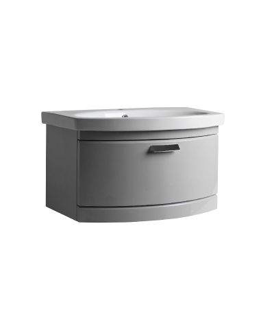 Tempo 650mm Wall Mounted Unit Gloss Light Grey