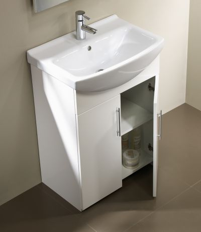 Opal 500mm Freestanding Unit White