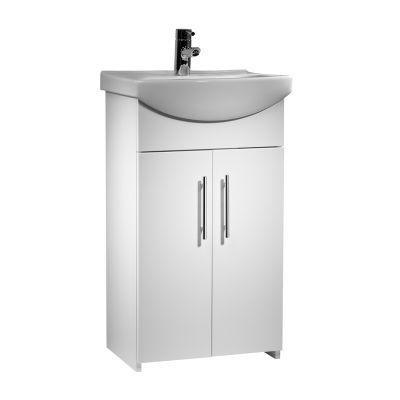 Opal 500mm Freestanding Unit White