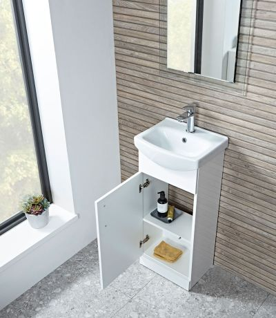 Opal 400mm freestanding unit with ceramic basin