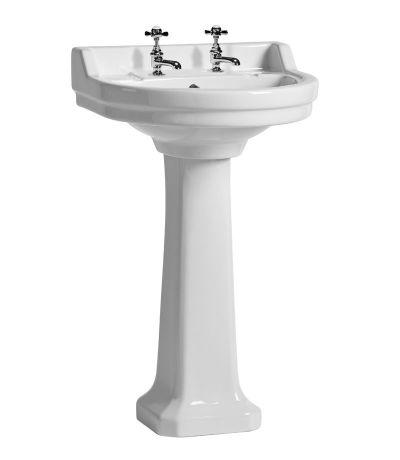 Vitoria 550mm round basin - 2 tap holes