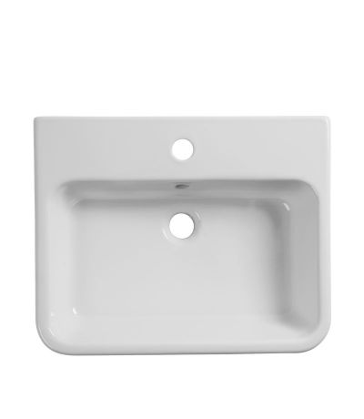 Agenda 500mm semi-countertop basin - 1 tap hole