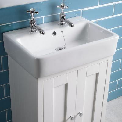 Lansdown 570mm basin - 2 tap hole