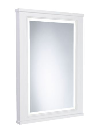 Lansdown 600mm Illuminated Mirror - Linen White