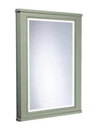 Vitoria 600mm illuminated mirror - pebble grey