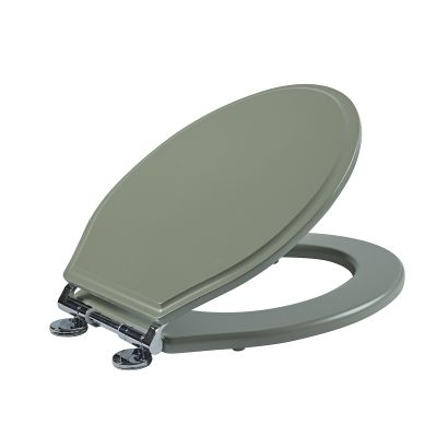 Wooden Toilet Seat - Pebble Grey