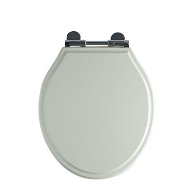Wooden Toilet Seat Linen White