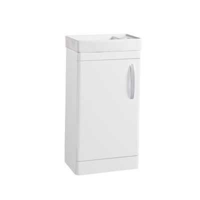 Compass 450mm Cloakroom Unit and Basin - Gloss White