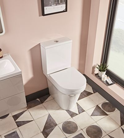 Aerial Comfort Height Open Back Close Coupled WC