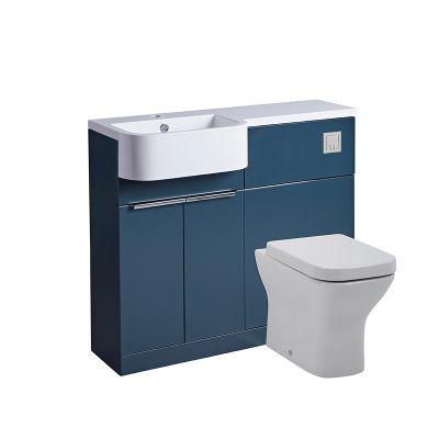Match 1000mm Unit & Basin - Left- Oxford Blue