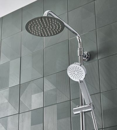 Quantum Cool Touch Thermostatic Dual Function Bar Valve with Shower Head & Handset