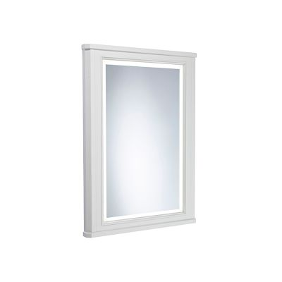 Vitoria 450mm Framed Illuminated Mirror - Linen White