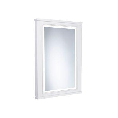 Lansdown 450mm Framed Illuminated Mirror- Linen White