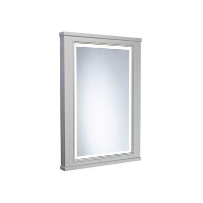 Lansdown 450mm Framed Illuminated Mirror- Pebble Grey