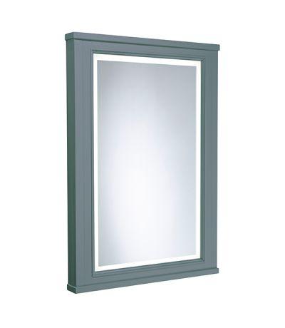 Lansdown 450mm Framed Illuminated Mirror- Mineral Blue