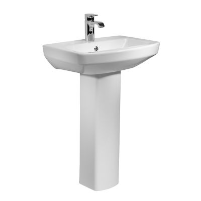 Vibe 550mm Ceramic Basin & Pedestal
