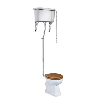 Vitoria High Level Pan & Cistern (Excludes seat)