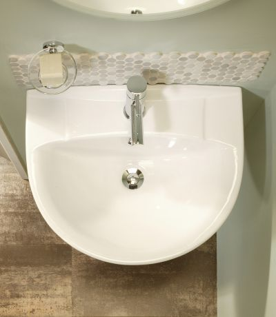 Micra 565mm Ceramic Basin & Pedestal