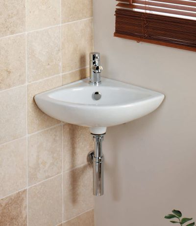 Micra 375mm Corner Ceramic Basin