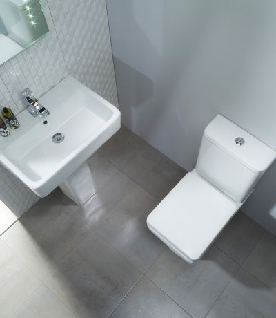 Q60 570mm Ceramic Basin & Pedestal