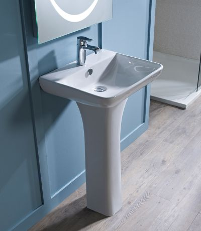 Structure 550mm Ceramic Basin & Pedestal