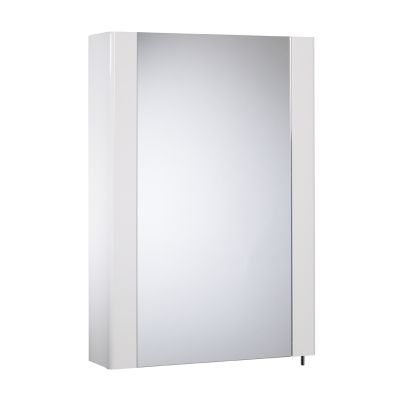 Detail Gloss White Single Mirror Door Cabinet