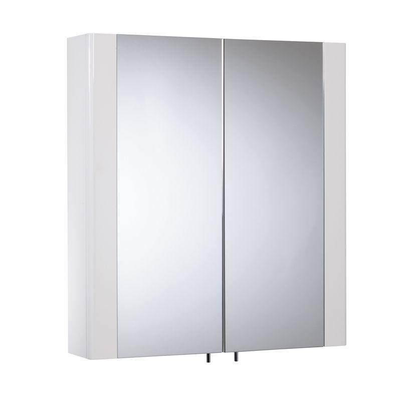 Detail Gloss White Double Mirror Door Cabinet Tavistock Bathrooms