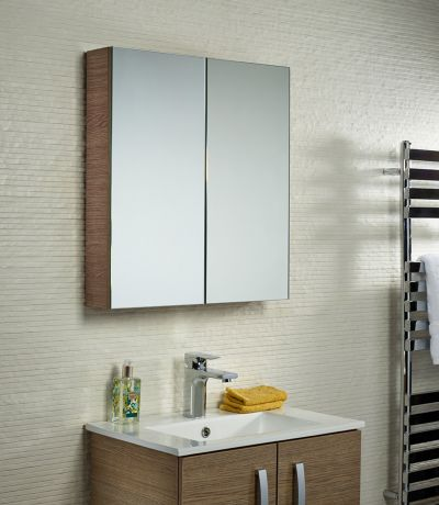 Observe Montana Gloss Double Mirror Door Cabinet