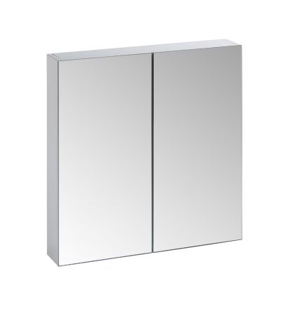 Observe Gloss White Double Mirror Door Cabinet