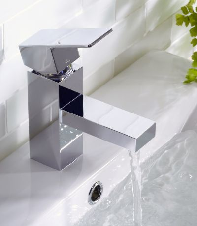 Index Basin Mixer with Click Waste