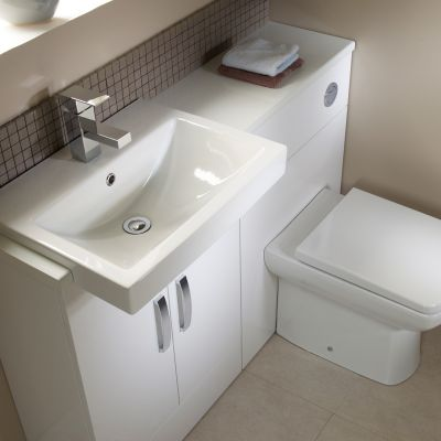 Courier 600 Semi Countertop Unit White