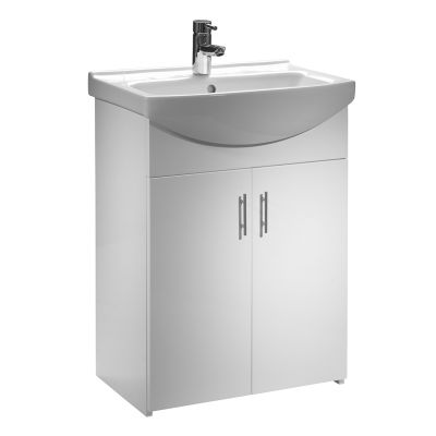 Opal 600mm Freestanding Unit White