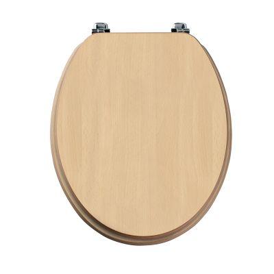 Millennium beech wood veneer toilet seat