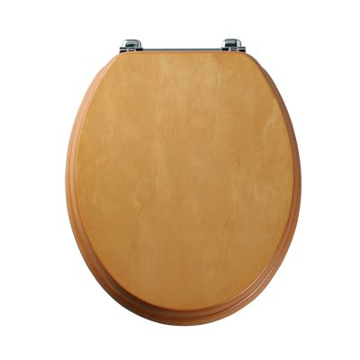 Premier antique pine wood veneer toilet seat