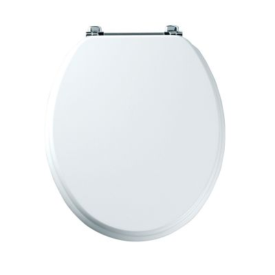 Premier white painted toilet seat
