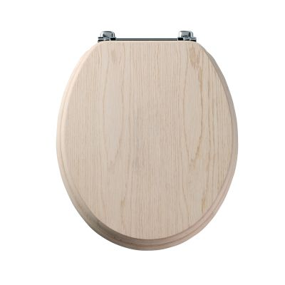 Premier limed oak wood veneer toilet seat