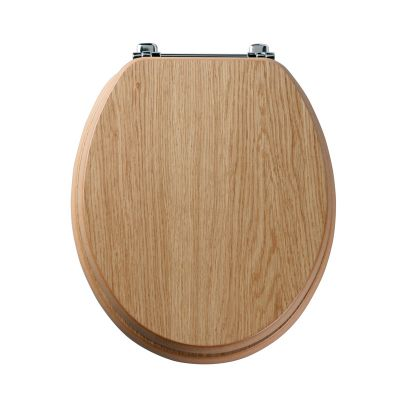 Premier natural oak wood veneer toilet seat
