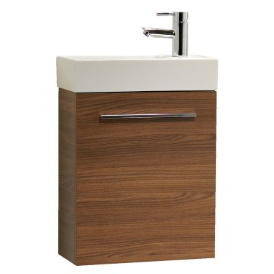 Kobe 450mm Wall Mounted Unit with Basin - Walnut